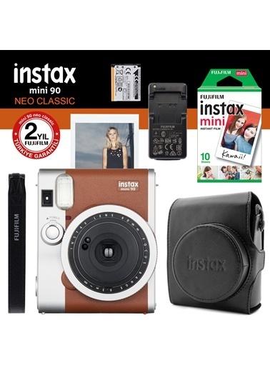 Fujifilm instax Neo 90 Classic Kahverengi Fotograf Makinesi ve Hediye Seti Renkli